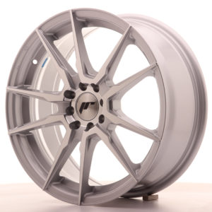 JR Wheels JR21 17x7 ET40 5x100/114 Silver Machined Face