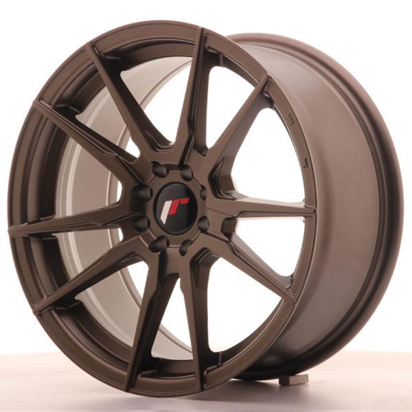 JR Wheels JR21 17x8 ET35 4x100/114 Matt Bronze