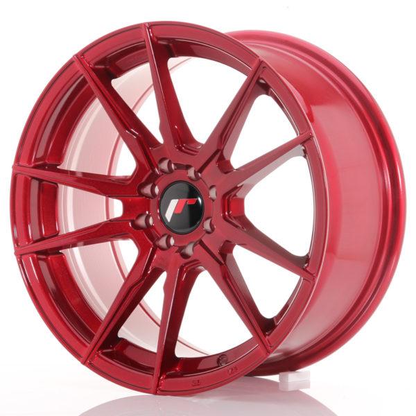 JR Wheels JR21 17x8 ET35 4x100/114 Platinum Red