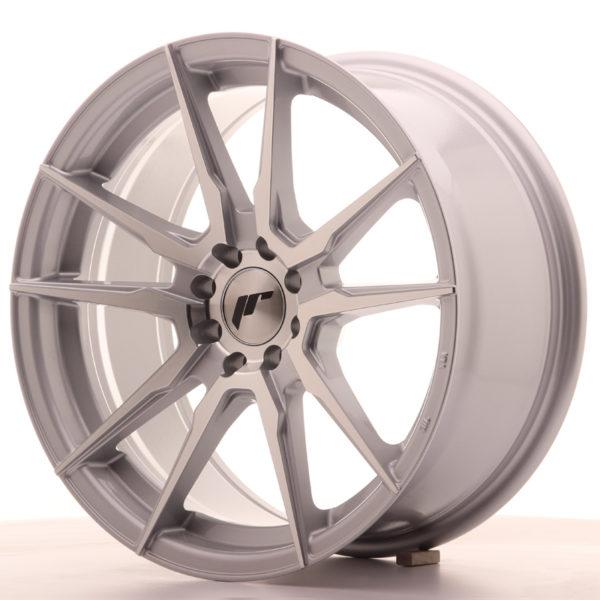JR Wheels JR21 17x8 ET25 4x100/108 Silver Machined Face