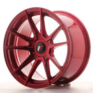 JR Wheels JR21 17x9 ET25-35 BLANK Platinum Red