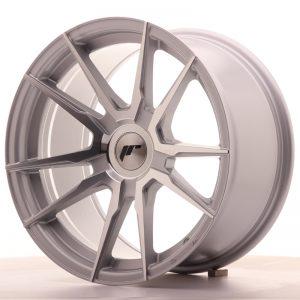 JR Wheels JR21 17x9 ET25-35 BLANK Silver Machined Face