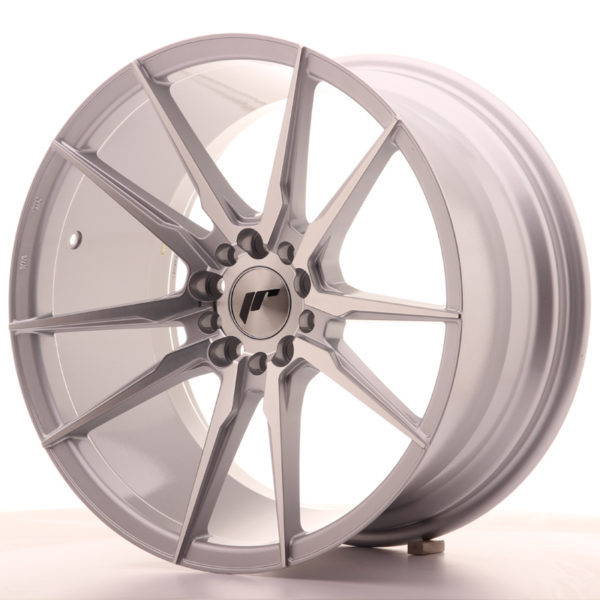 JR Wheels JR21 18x9,5 ET35 5x100/120 Silver Machined Face