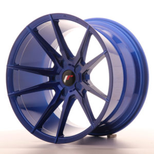 JR Wheels JR21 19x11 ET15-30 5H BLANK Platinum Blue