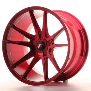 JR Wheels JR21 19x11 ET15-30 5H BLANK Platinum Red
