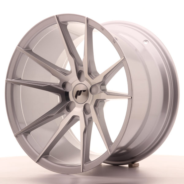 JR Wheels JR21 19x11 ET15-30 5H BLANK Silver Machined Face