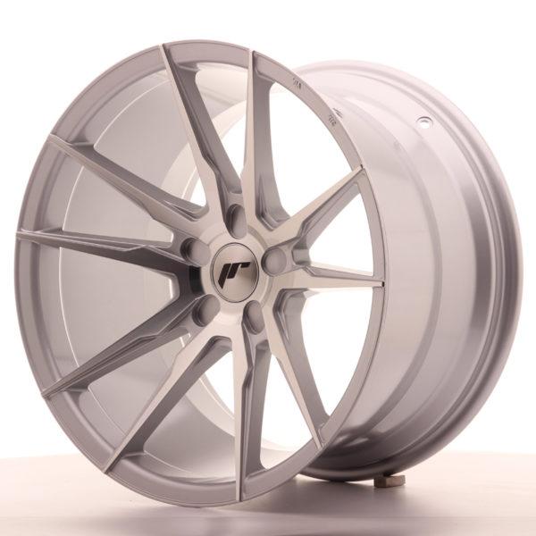 JR Wheels JR21 19x11 ET15-30 5H BLANK Silver Machined Face