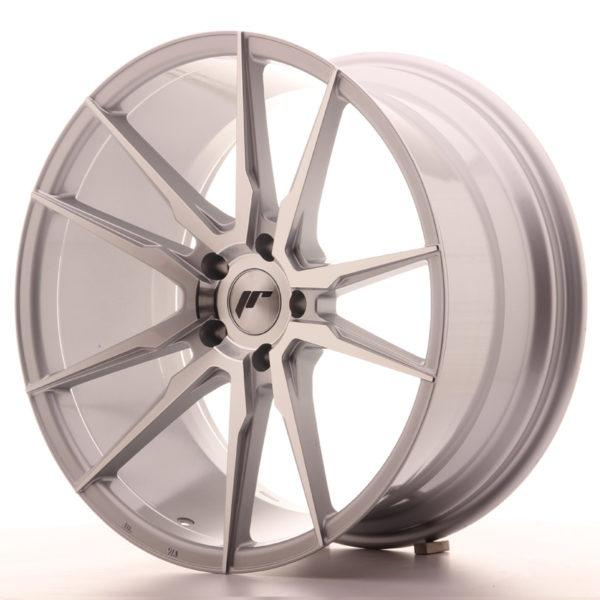 JR Wheels JR21 20x10 ET40 5x120 Silver Machined Face