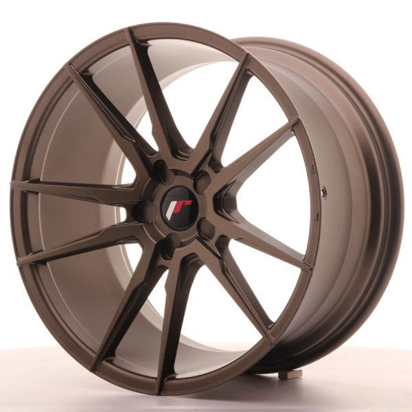 JR Wheels JR21 20x10 ET20-40 5H BLANK Matt Bronze