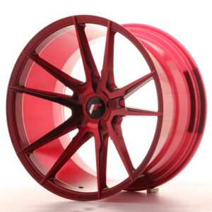 JR Wheels JR21 20x11 ET20-30 5H BLANK Platinum Red