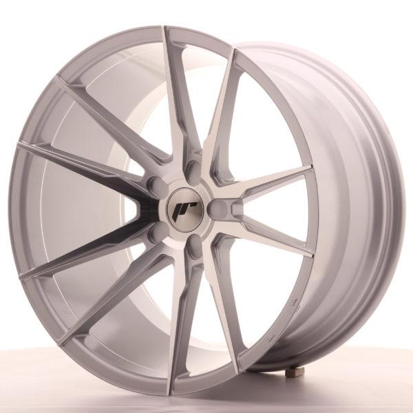 JR Wheels JR21 20x11 ET20-30 5H BLANK Silver Machined Face
