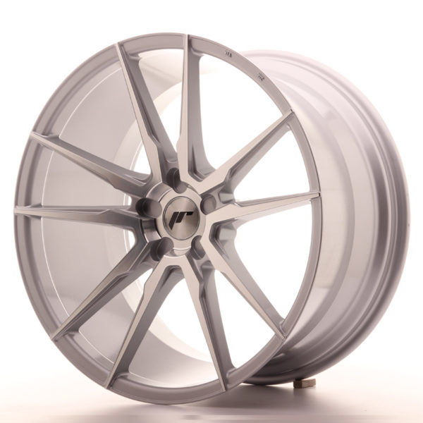 JR Wheels JR21 21x11 ET15-55 5H BLANK Silver Machined Face
