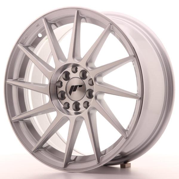 JR Wheels JR22 17x7 ET35 4x100/114 Silver Machined Face