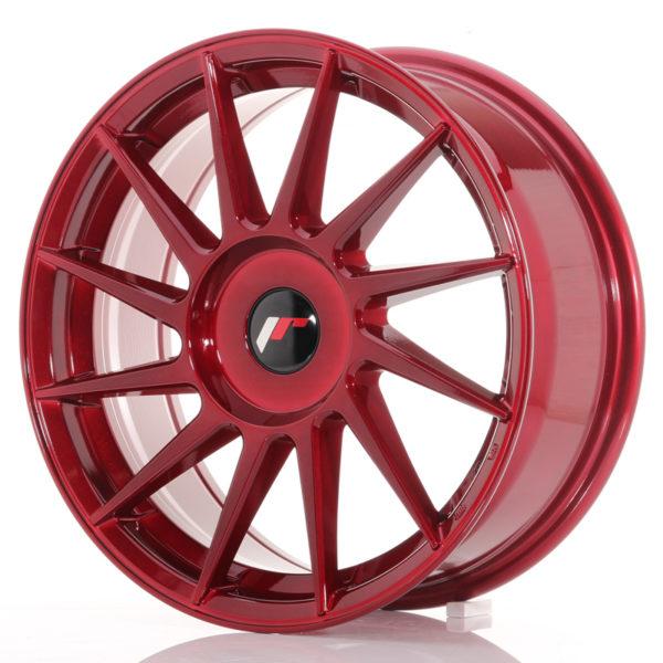 JR Wheels JR22 17x7 ET35-40 BLANK Platinum Red