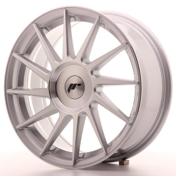 JR Wheels JR22 17x7 ET35-40 BLANK Silver Machined Face
