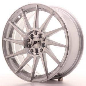 JR Wheels JR22 17x7 ET25 4x100/108 Silver Machined Face