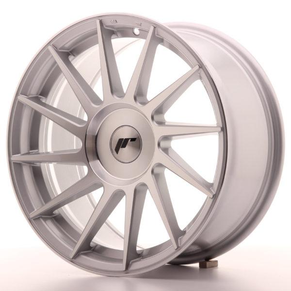 JR Wheels JR22 17x8 ET25-35 BLANK Silver Machined Face