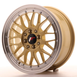 JR Wheels JR23 16x7 ET20 4x100/108 Gold w/Machined Lip