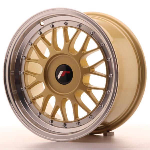 JR Wheels JR23 16x8 ET20-45 BLANK Gold w/Machined Lip