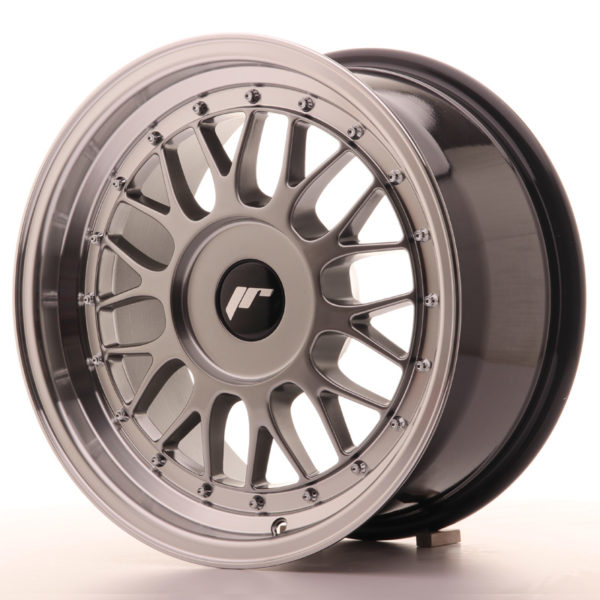 JR Wheels JR23 16x8 ET20-45 BLANK Hyper Black w/Machined Lip