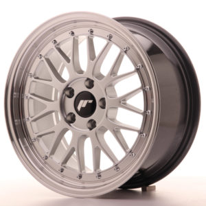 JR Wheels JR23 17x8 ET40 5x120 Hyper Silver w/Machined Lip
