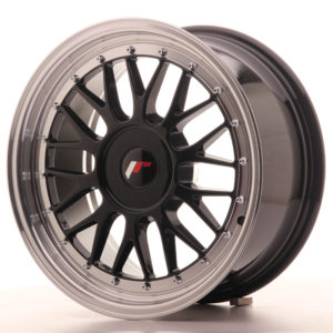 JR Wheels JR23 17x8 ET20-45 BLANK Gloss Black w/Machined Lip