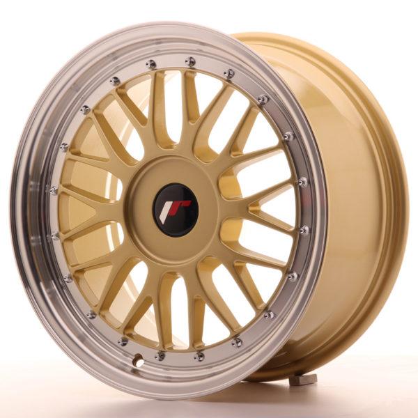 JR Wheels JR23 17x8 ET20-45 BLANK Gold w/Machined Lip