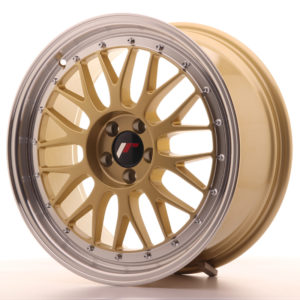 JR Wheels JR23 18x8 ET40 5x112 Gold w/Machined Lip