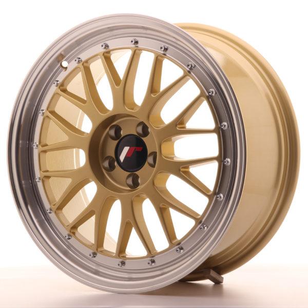 JR Wheels JR23 18x8 ET40 5x112 Gold w/Machined Lip