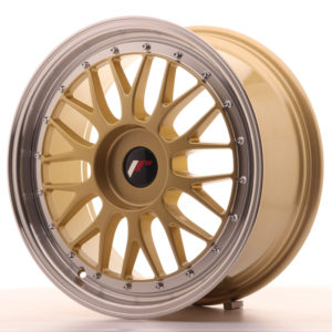 JR Wheels JR23 18x8 ET30-45 BLANK Gold w/Machined Lip