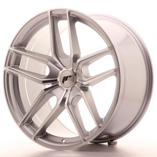 JR Wheels JR25 20x10 ET40 5H BLANK Silver Machined Face