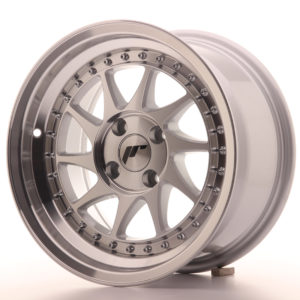 JR Wheels JR26 15x8 ET15 4x100 Silver Machined Face