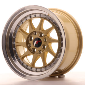 JR Wheels JR26 15x8 ET25 4x100/108 Gold w/Machined Lip