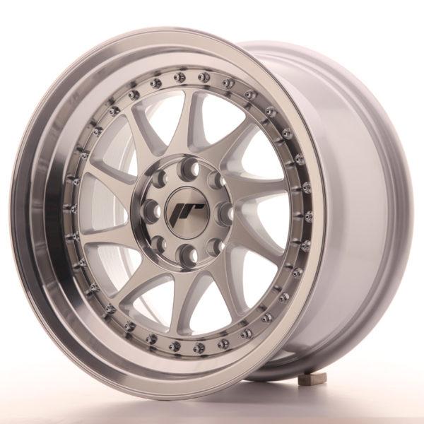 JR Wheels JR26 15x8 ET25 4x100/108 Silver Machined Face