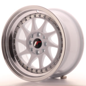 JR Wheels JR26 15x8 ET25 4x100/108 White w/Machined Lip