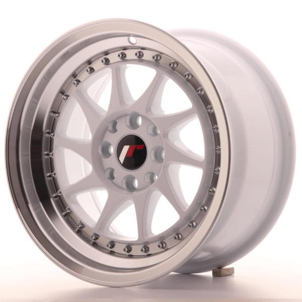 JR Wheels JR26 15x8 ET25 4x100/108 White w/Machined Lip
