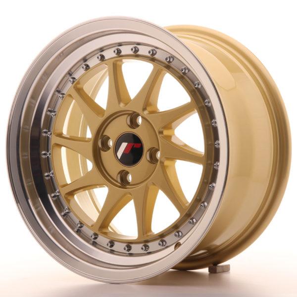 JR Wheels JR26 16x8 ET30 4x100 Gold w/Machined Lip
