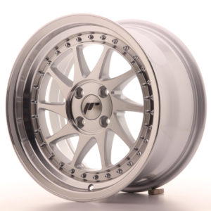 JR Wheels JR26 16x8 ET30 4x100 Silver Machined Face