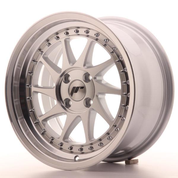JR Wheels JR26 16x8 ET30 4x100 Silver Machined Face