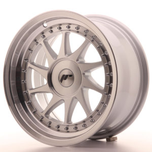 JR Wheels JR26 16x8 ET10-30 BLANK Silver Machined Face
