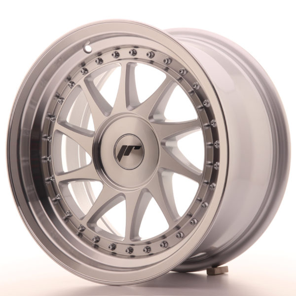 JR Wheels JR26 16x8 ET10-30 BLANK Silver Machined Face