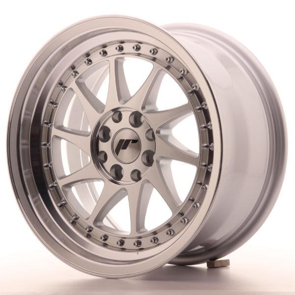 JR Wheels JR26 16x8 ET25 4x100/108 Silver Machined Face