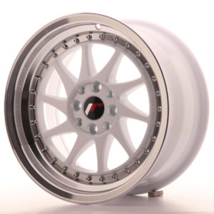 JR Wheels JR26 16x8 ET25 4x100/108 White w/Machined Lip