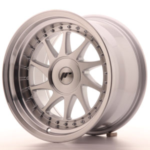 JR Wheels JR26 16x9 ET0-25 BLANK Silver Machined Face