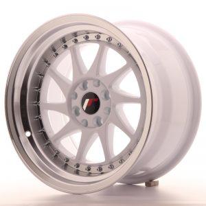 JR Wheels JR26 16x9 ET20 4x100/108 White w/Machined Lip