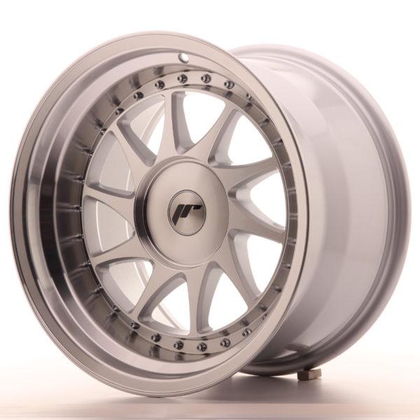 JR Wheels JR26 17x10 ET0-25 BLANK Silver Machined Face