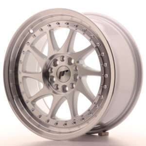 JR Wheels JR26 17x8 ET35 4x100/114 Silver Machined Face