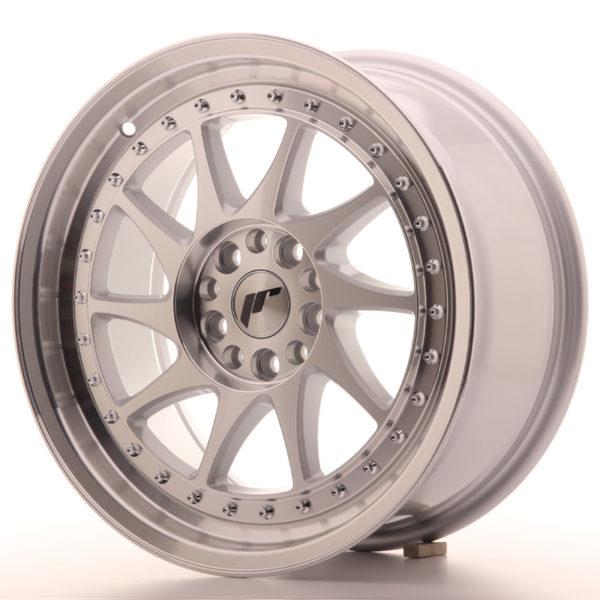 JR Wheels JR26 17x8 ET35 4x100/114 Silver Machined Face