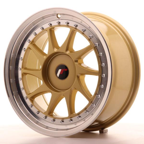 JR Wheels JR26 17x8 ET35 BLANK Gold w/Machined Lip