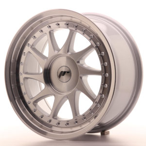 JR Wheels JR26 17x8 ET35 BLANK Silver Machined Face